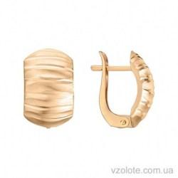 Золотые серьги с алмазной гранью Аврелия (арт. 2004602101)