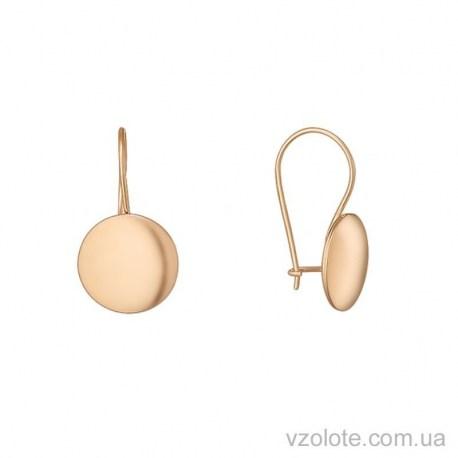 Золотые серьги петельки Полли (арт. 2004900101)