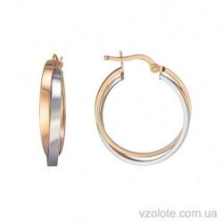 Золотые серьги кольца Комбинация (арт. 2004901112)