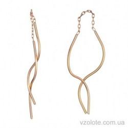 Золотые серьги-протяжки Спирали (арт. 2004916101)