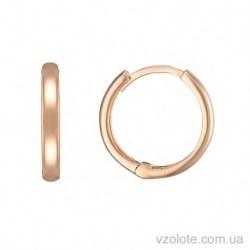 Золотые серьги кольца без камней Карина (арт. 2005360101)