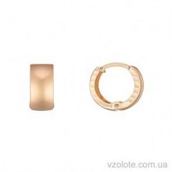 Золотые серьги без камней Эмина (арт. 2005370101)