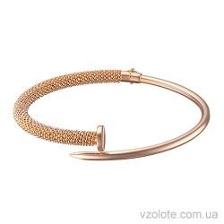 Золотой жесткий браслет под Картье (арт. 4205596101)