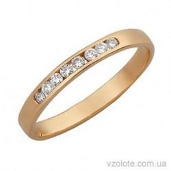 Золотое кольцо Дорожка с бриллиантами Мексика (арт. 1100971201)