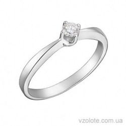 Помолвочное кольцо из белого золота с бриллиантом Глория (арт. 1101467202)