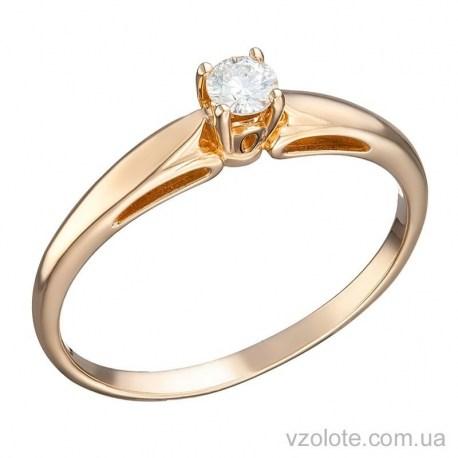 Золотое помолвочное кольцо с бриллиантом Марсель (арт. 1103455201)