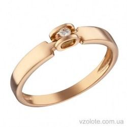 Золотое помолвочное кольцо с бриллиантом Ницца (арт. 1104079201)