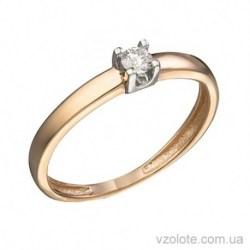 Золотое помолвочное кольцо с бриллиантом Конго (арт. 1104999201)