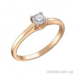 Золотое помолвочное кольцо с бриллиантом Арта (арт. 1105026201)