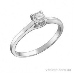 Кольцо из белого золота с бриллиантом Арта (арт. 1105026202)