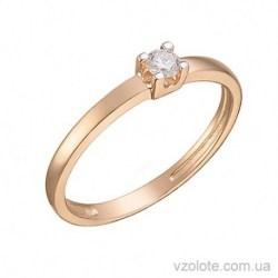 Золотое помолвочное кольцо с бриллиантом Ламия (арт. 1105028201)