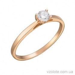Золотое помолвочное кольцо с бриллиантом Бейна (арт. 1105029201)