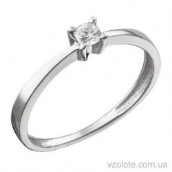 Кольцо из белого золота с бриллиантом Монсе (арт. 1105137202)