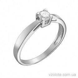 Кольцо из белого золота с бриллиантом Верона (арт. 1105145202)