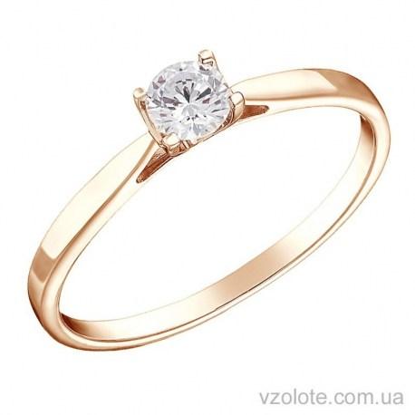 Золотое помолвочное кольцо с бриллиантом Верона (арт. 1191238201)