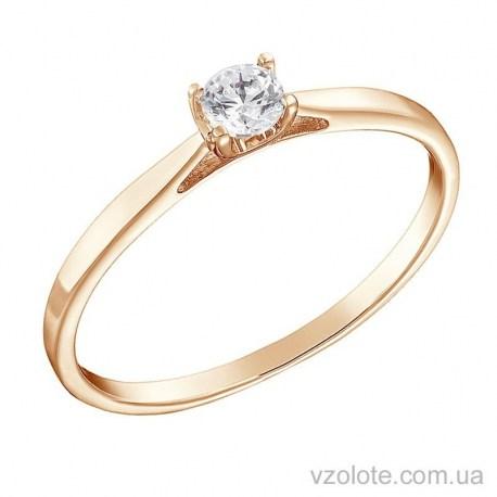 Золотое помолвочное кольцо с бриллиантом Бари (арт. 1191239201)