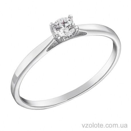 Помолвочное кольцо из белого золота Бари (арт. 1191239202)