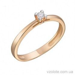 Золотое помолвочное кольцо с бриллиантом Вена (арт. 1191240201)