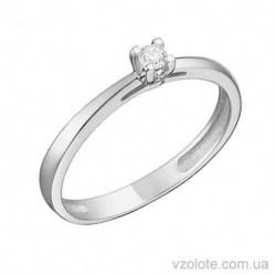 Помолвочное кольцо из белого золота Вена (арт. 1191240202)