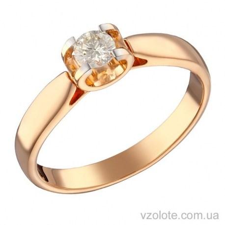 Золотое кольцо с бриллиантом Мерида (арт. 1191244201)