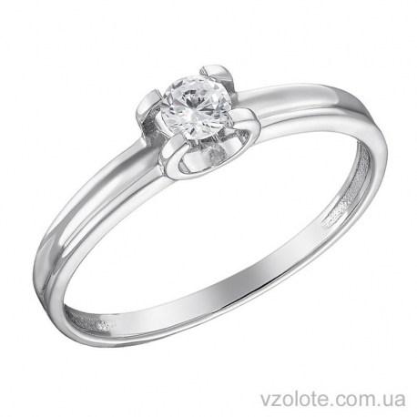 Помолвочное кольцо из белого золота с бриллиантом Эрими (арт. 1191248202)