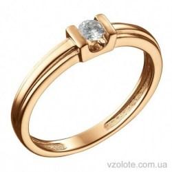 Золотое кольцо с бриллиантом Корсика (арт. 1191363201)