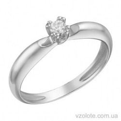 Помолвочное кольцо из белого золота с бриллиантом Лориан (арт. 1191367202)