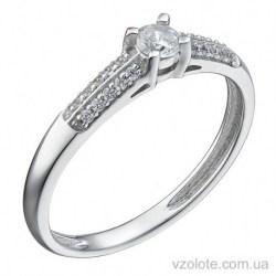 Помолвочное кольцо из белого золота с бриллиантами Сантьяго (арт. 1191397202)