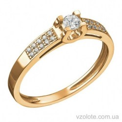 Золотое кольцо с бриллиантами Барселона (арт. 1191399201)