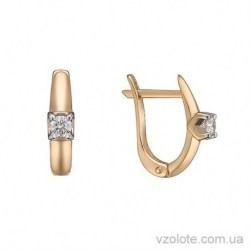 Золотые серьги с бриллиантами Сильвия (арт. 2191243201)