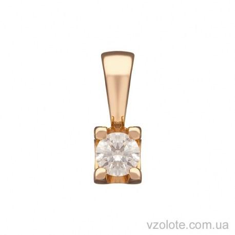 Золотая подвеска с бриллиантом Грета (арт. 3102574201)