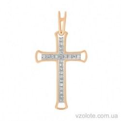 Золотой крестик с бриллиантами (арт. 3102735201)