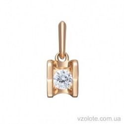 Золотой подвес с бриллиантом Блеск (арт. 3103546201)