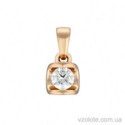 Золотой подвес с бриллиантом Ева (арт. 3103567201)