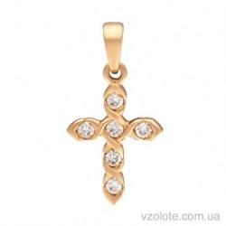 Золотой крестик с бриллиантами (арт. 3103639201)