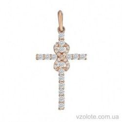 Золотой крестик с бриллиантами Вечность (арт. 3103641201)