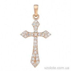 Золотой крестик с бриллиантами (арт. 3104072201)