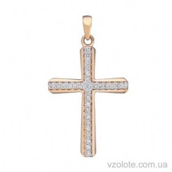 Золотой крестик с бриллиантами (арт. 3104073201)