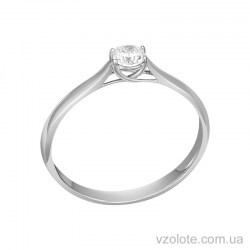 Золотое кольцо с бриллиантом (арт. 1100889202)