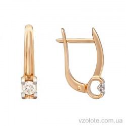 Золотые серьги с бриллиантами (арт. 2191248201)