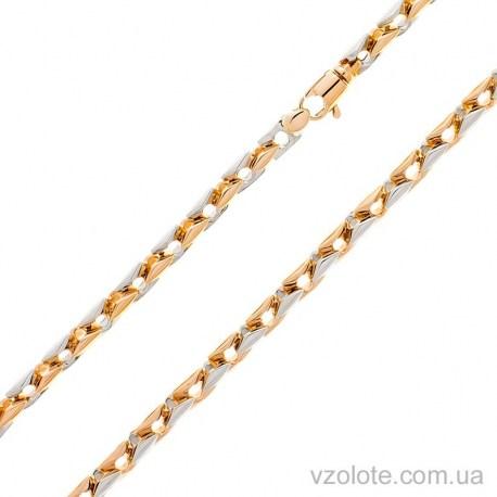 Золотая цепь Ромб большой (арт. 306300)