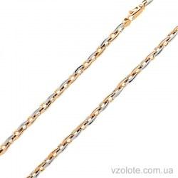 Золотая комбинированная цепь Зерно (арт. 306303)