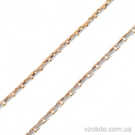 Золотая комбинированная цепь Багет с ребром (арт. 306304)