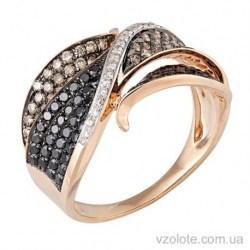 Золотое кольцо с коньячными бриллиантами Колумбия (арт. 1190906201)