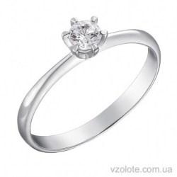 Помолвочное кольцо из белого золота с бриллиантом Мики (арт. 1191233202)