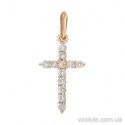 Золотой крестик с бриллиантами Блеск (арт. 3103632201)
