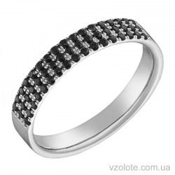 Кольцо из белого золота с черными бриллиантами Ванесса (арт. 1103527202)