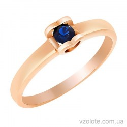 Золотое кольцо с сапфиром Лолита (арт. 1190521201)