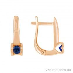 Золотые серьги с сапфиром Лолита (арт. 2190521201)