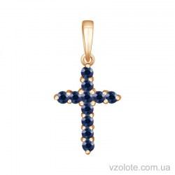 Золотой крестик с сапфирами (арт. 3100785201)